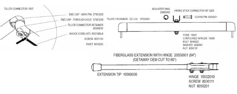 diagram of boat tiller system tiller