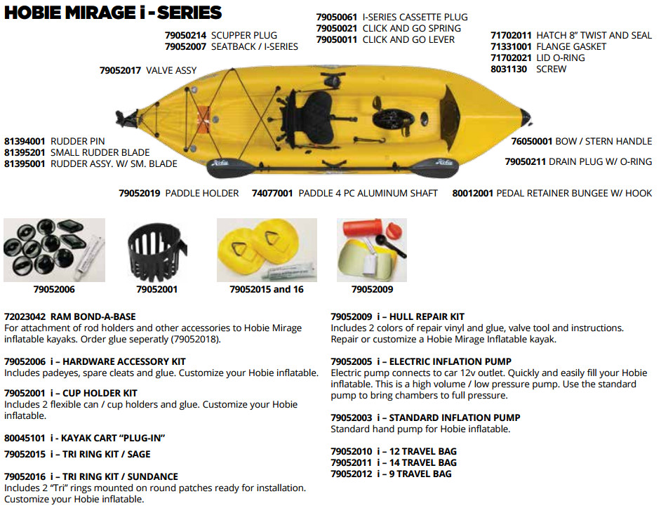 Hobie Kayak Parts & Accessories