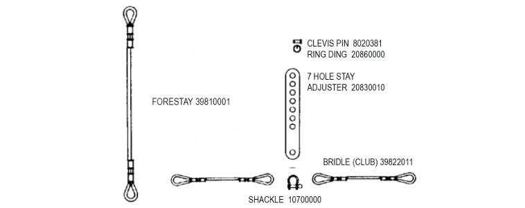 Forestay  U0026 Bridle